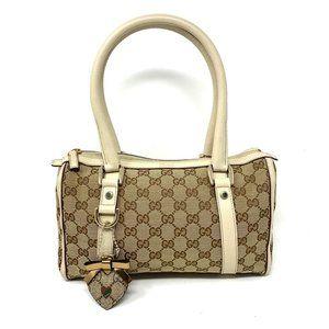 100% Auth Gucci Canvas Shoulder Bag